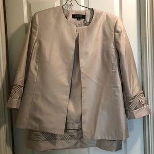 Kasper three piece beige skirt suit